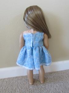 back glitter dress